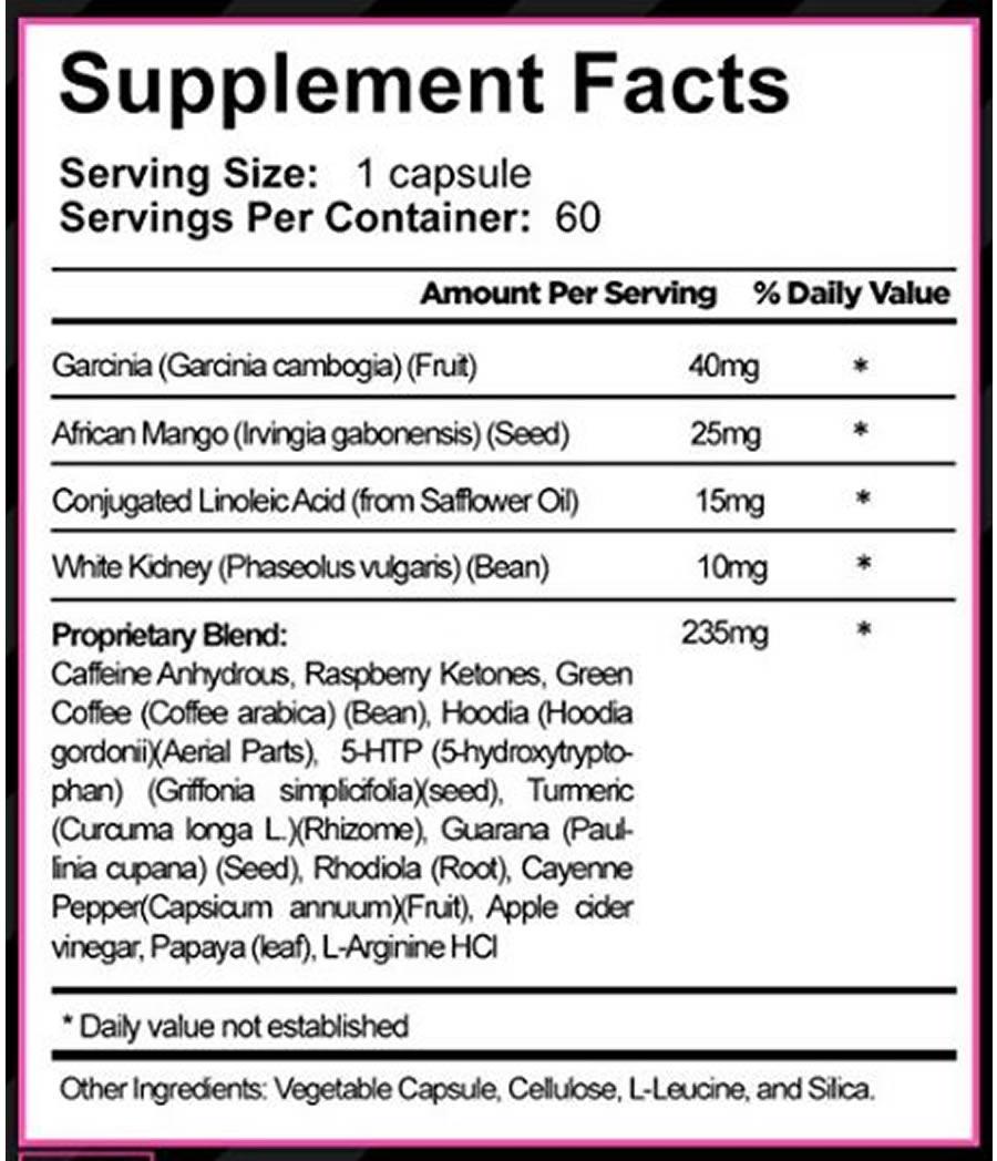 Skinny Gal ingredients