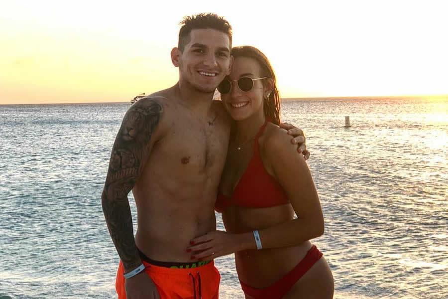 Lucas Torreira and his girlfriend Vittoria Repetto (Photo: Lucas Torreira / Instagram)