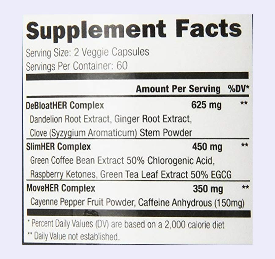 The Slim Angel ingredients formula. Unfortunately, this product uses a proprietary blend