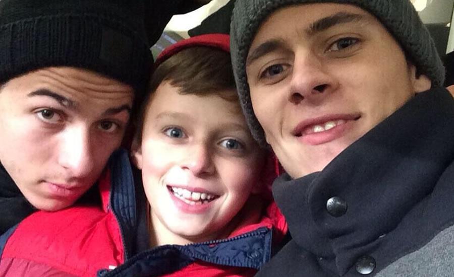Thorgan, Kylian and Ethan Hazard (Photo: Instagram)
