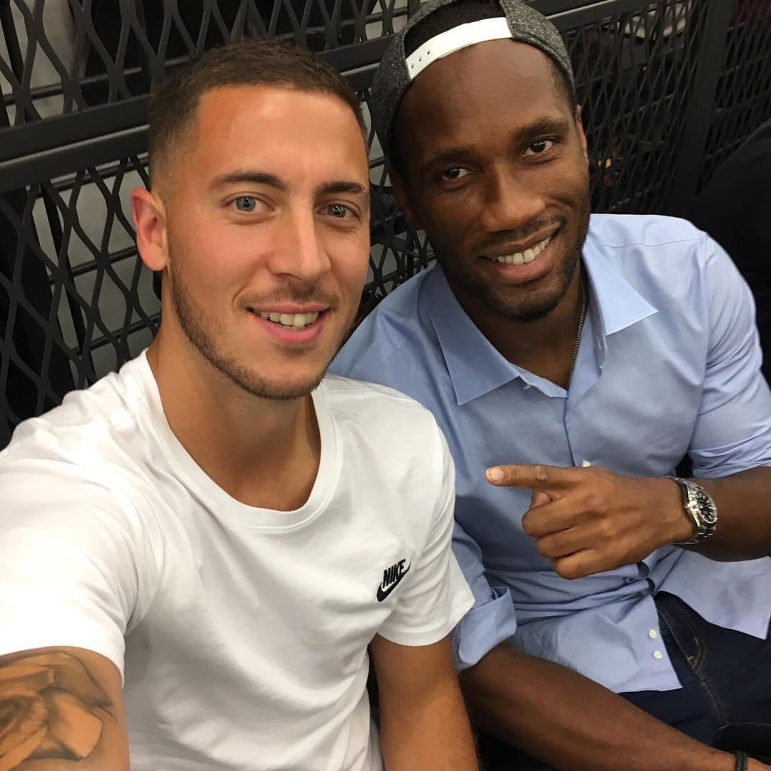 Hazard and drogba