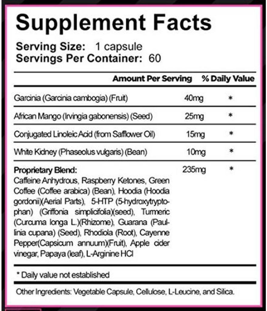 The Skinny Gal ingredients formula