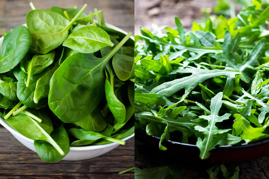 Aragula vs Spinach