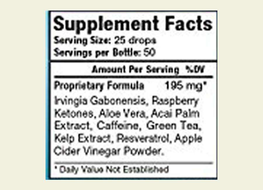 The Atrafen Thermodrops ingredients formula. Sadly this product uses a proprietary blend