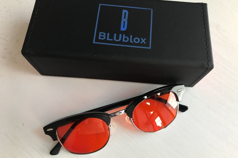 The BLUblox Willis Sleep+ glasses are our favorite style