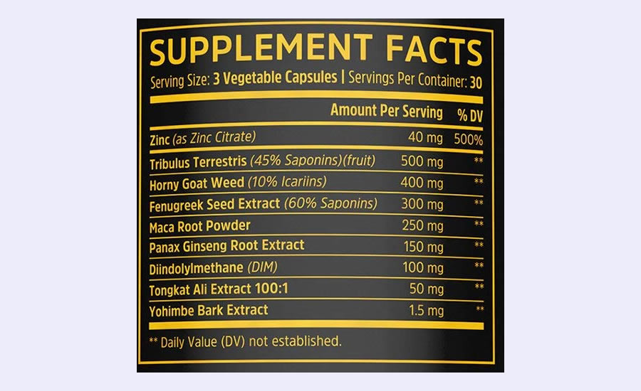 The full Boost Elite ingredients formula. It's good that it doesn't use a proprietary blend