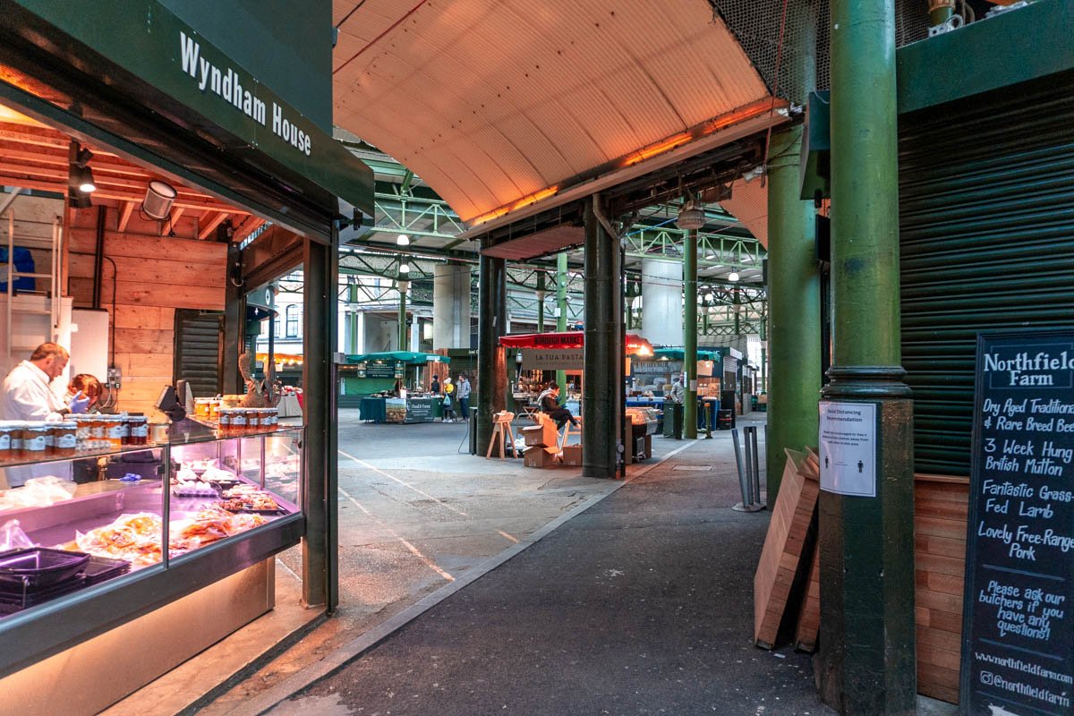 Some stalls at Borough Market remain operational