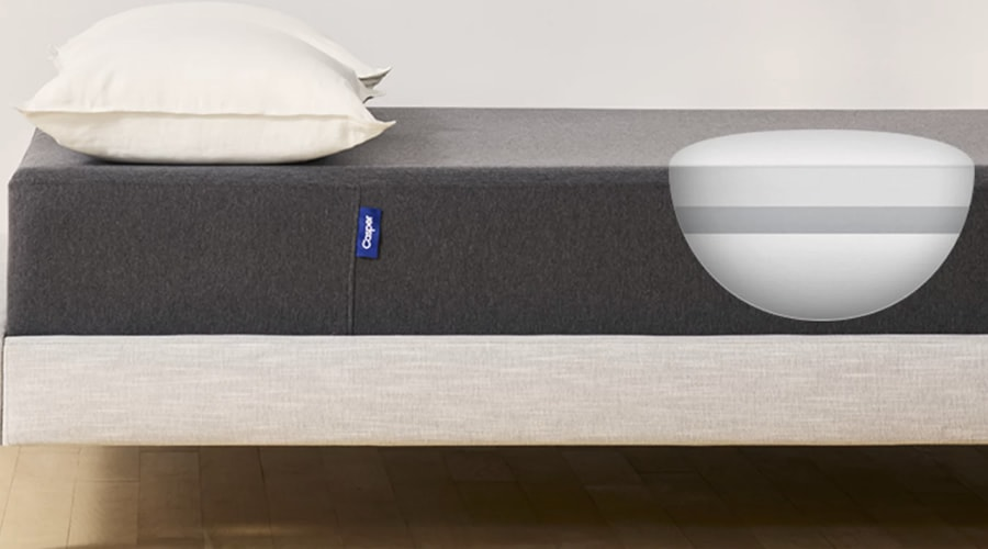 The Casper Essential is 11 inches thick and uses three layers of memory foam (Photo: Casper)