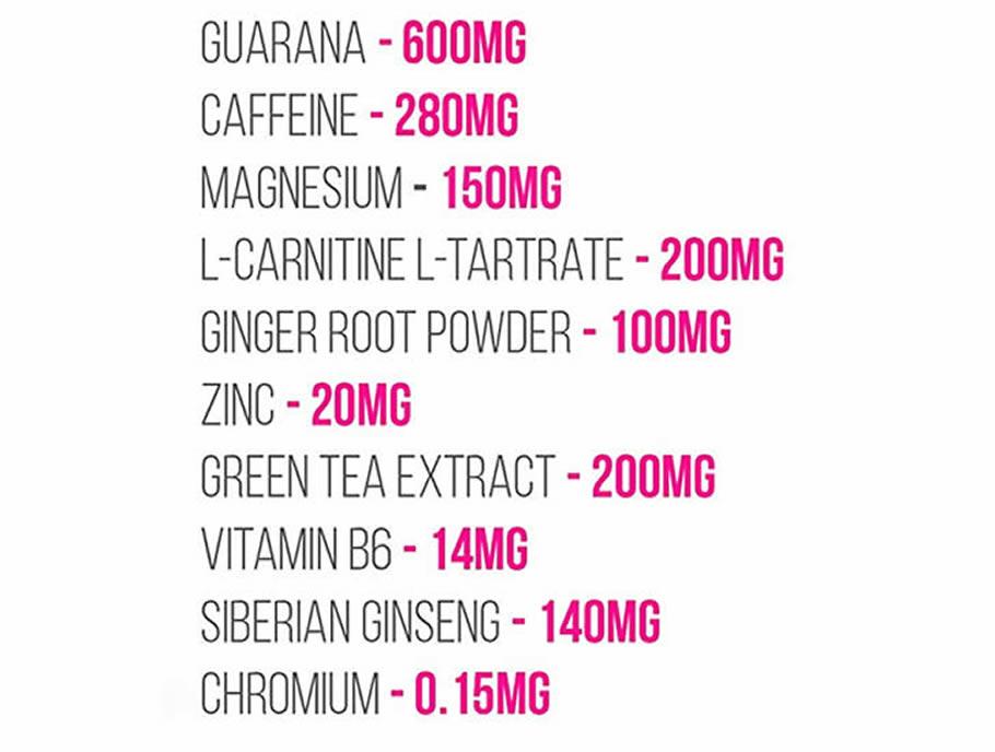 Cute Nutrition Burner Capsules ingredients