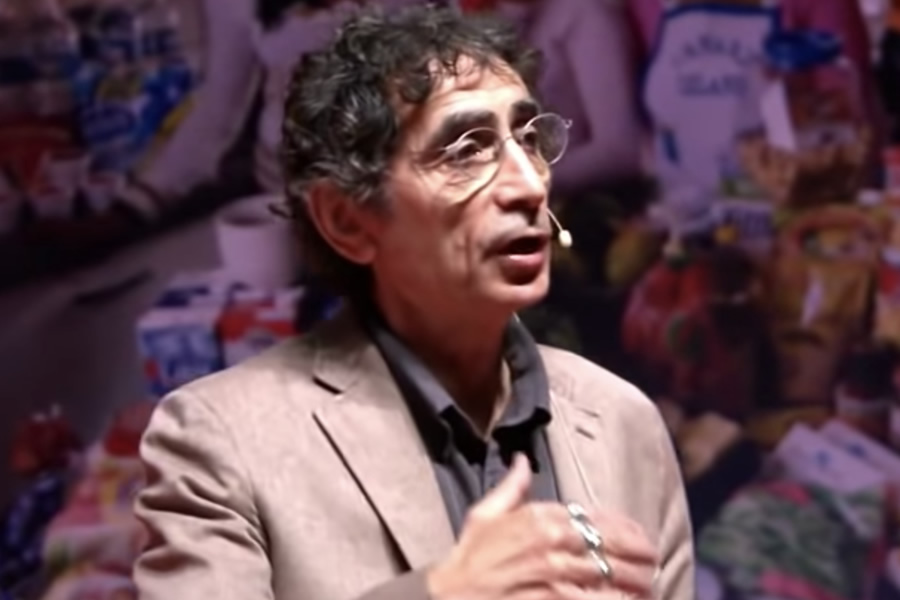Gabor Mate giving his TEDx talk in 2012 (Photo: YouTube)