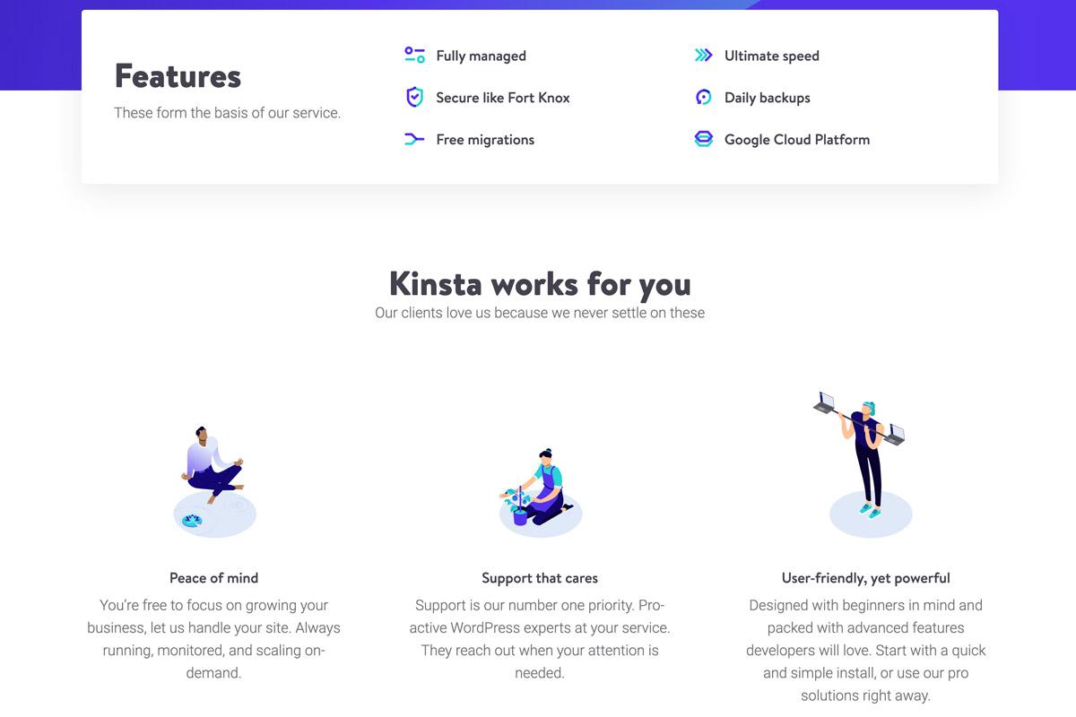 Kinsta Features