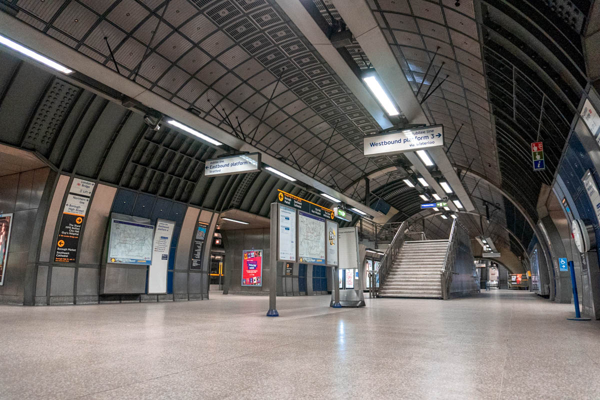 London Bridge station is one of the capital's busiest stations, but now it is completely deserted