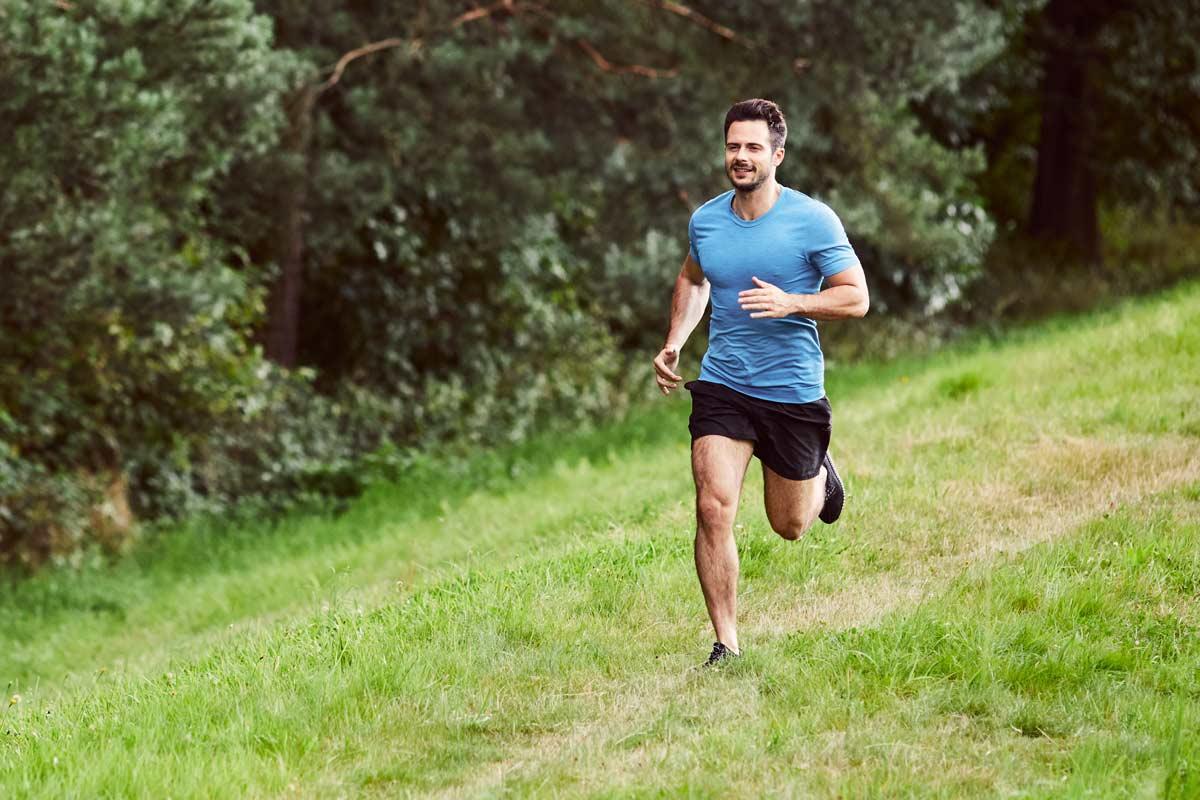 Man Running In Nature