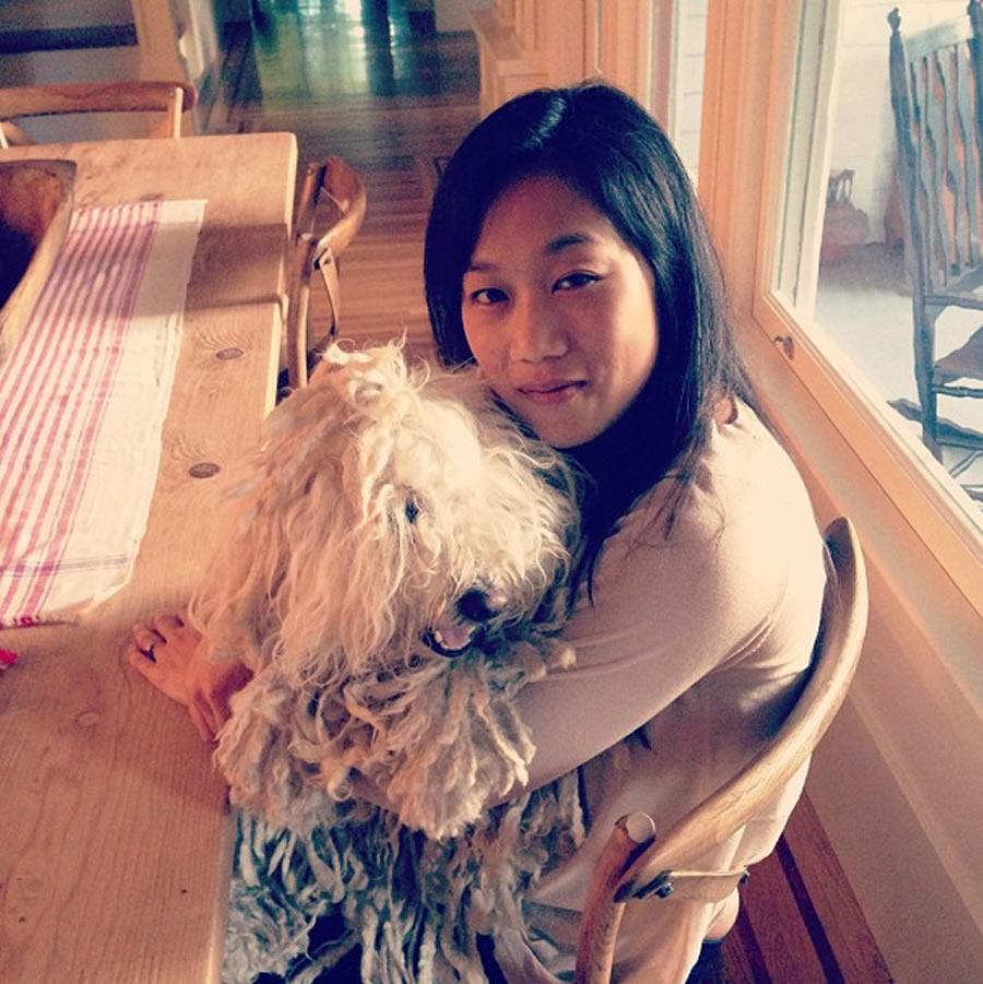 Priscilla Chan holds the couple's dog, Beast (Photo: Mark Zuckerberg / Instagram)
