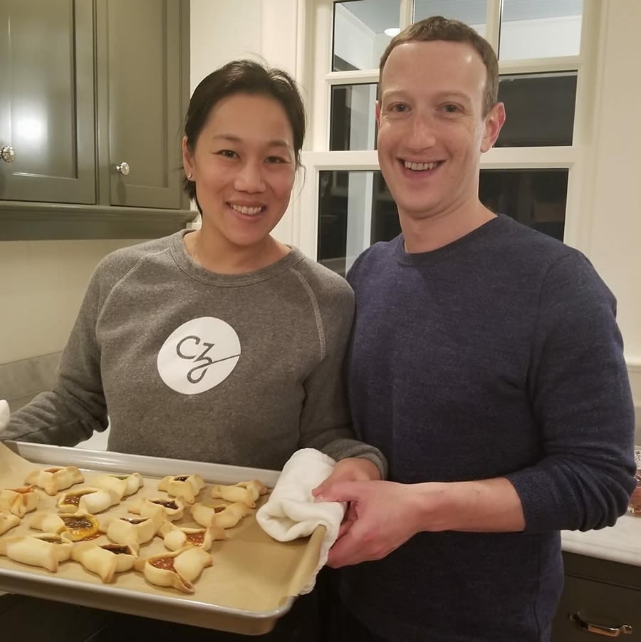 Mark Zuckerberg and wife Priscilla Chan