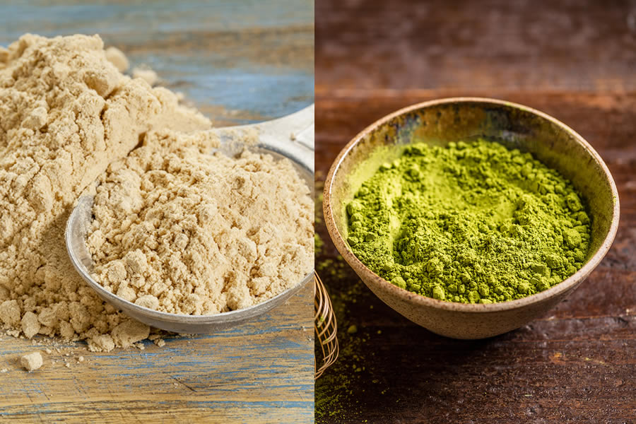 Maca and Matcha