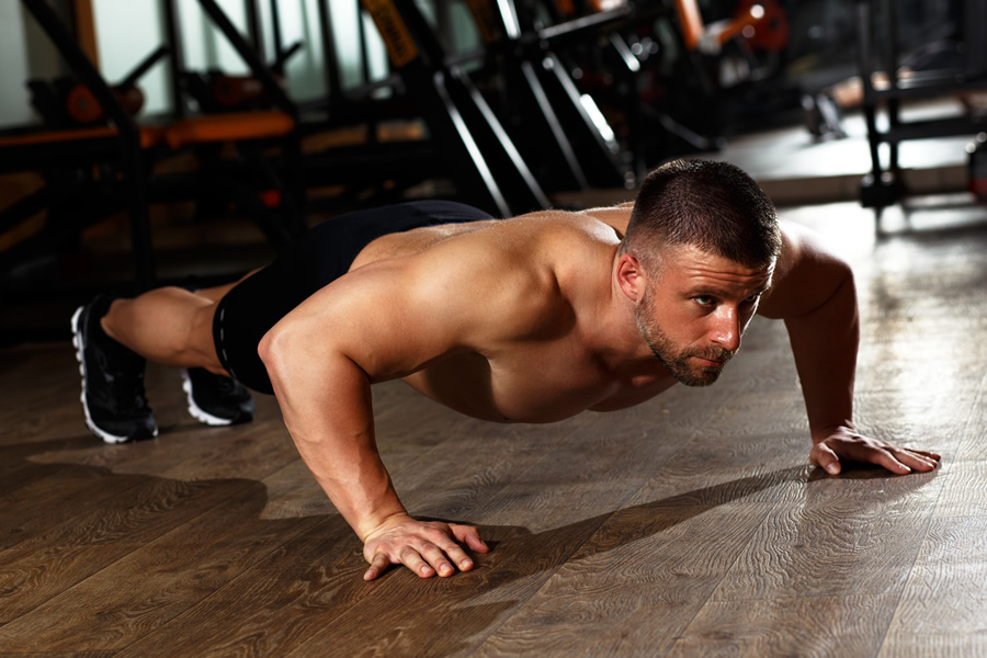 Man doing a press up