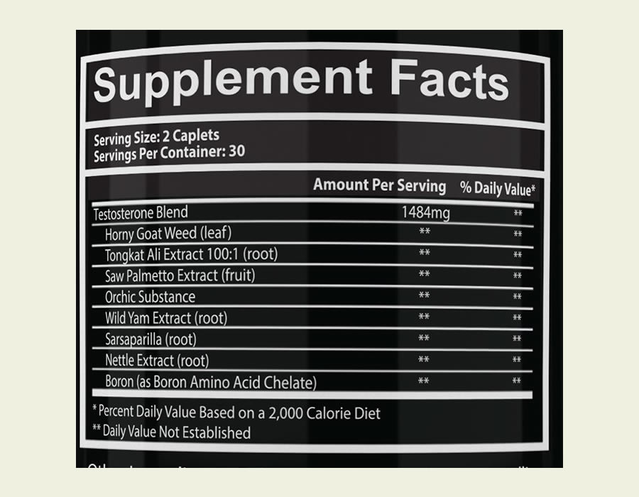 The full Prime Test ingredients formula. It's disappointing that a proprietary blend is used
