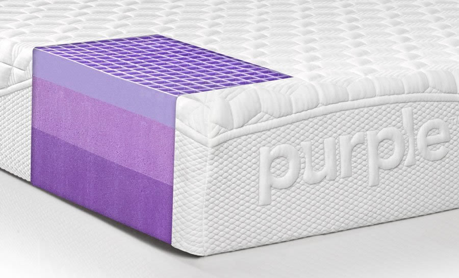 The Purple Mattress has two layers of memory foam under the Smart Comfort Grid