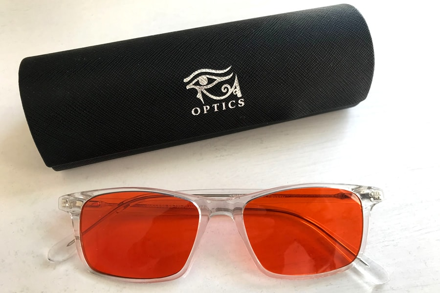 The Ra Optics Popp Ultimate Night glasses with protective case