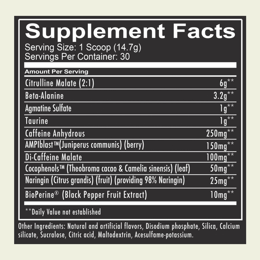 Image result for REDCON1 TOTAL WAR PRE WORKOUT INGREDIENTS