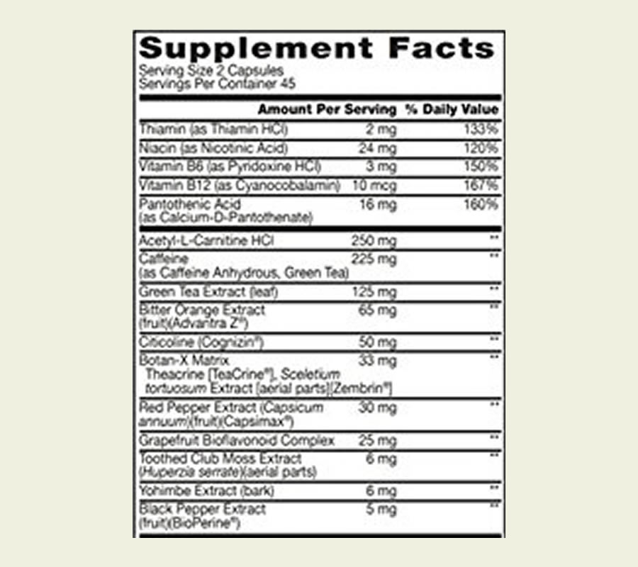 The Ripped Edge ingredients formula