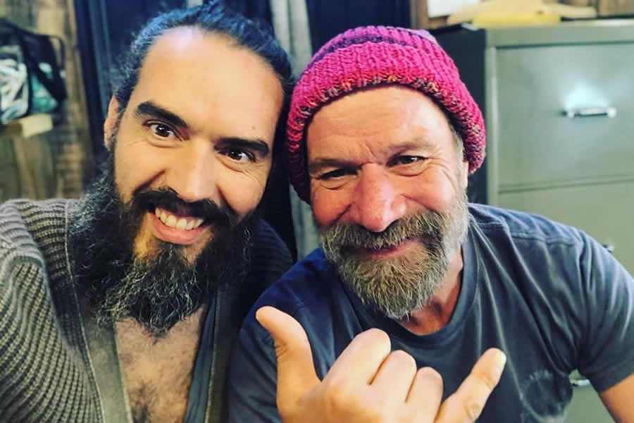 Russell Brand and Wim Hof