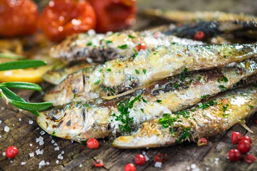 Sardines cooked