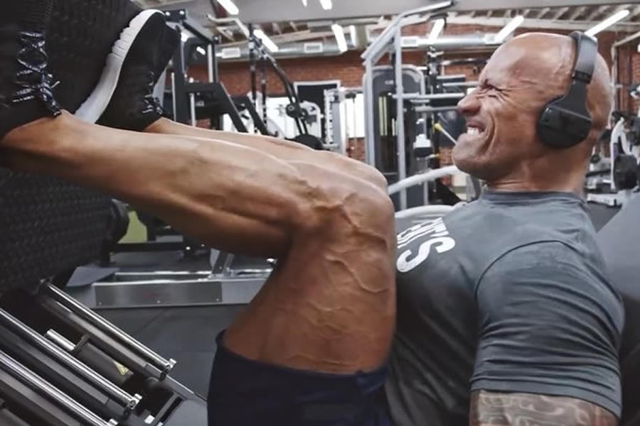 The Rock Leg Workout