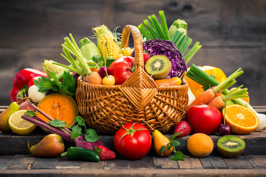 Sticking to a diet with fresh fruits and vegetables is important to your overall health