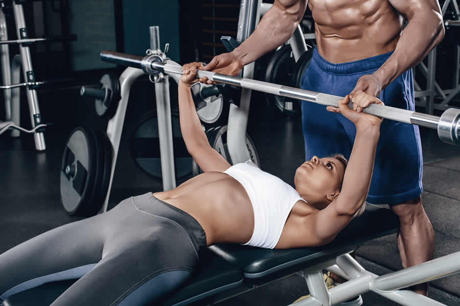 Woman Bench Press Bar